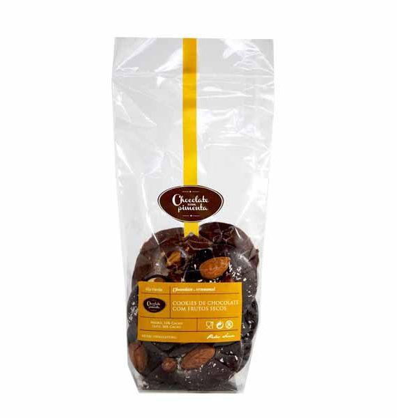 Cookies de Chocolate Negro e chocolate de Leite com Frutos Secos