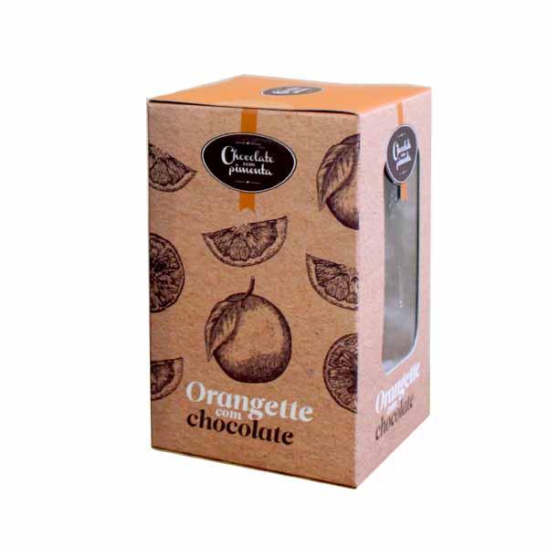 Casca de laranja confitada com chocolate negro
