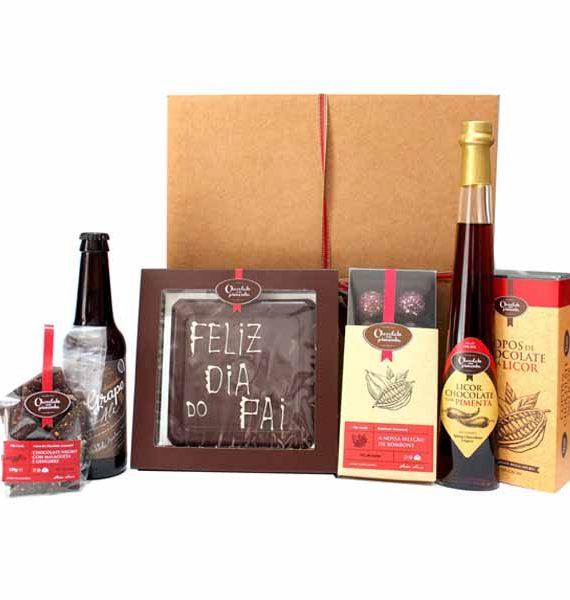 Cabaz de Chocolates, Licor e Cerveja Artesanal